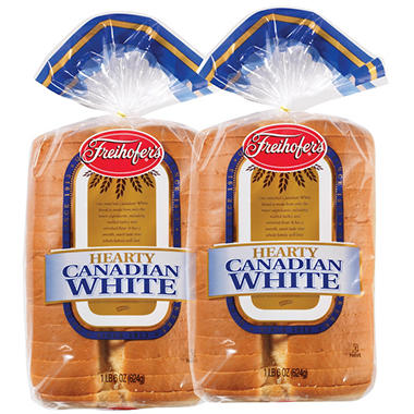 Freihofer's Hearty Canadian White Bread - 2/22 oz.