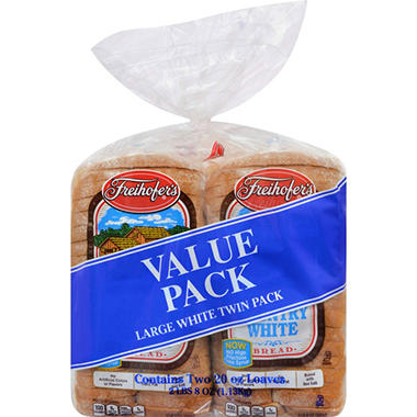 Freihofer's Country White Bread, Twin Pack (48 oz., 2 pk.)