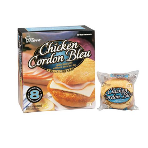 Pierre™ Chicken Cordon Bleu - 8/6.6 oz. sandwiches