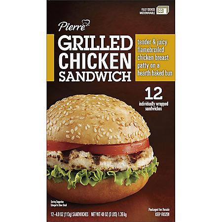 Pierre Grilled Chicken Sandwich (4 oz., 12 ct.)