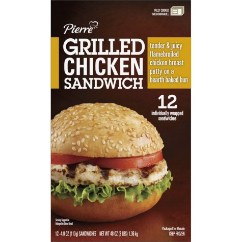 Pierre™ Grilled Chicken Sandwich - 12 ct.