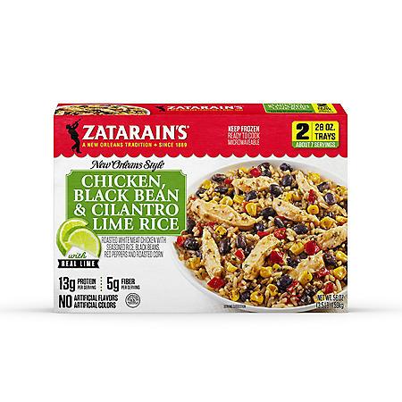 Zatarain's Chicken Black Bean and Cilantro Lime Rice, Frozen (2 pk.)