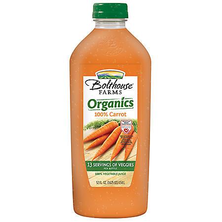 Bolthouse Farms Organic Carrot Juice (52 oz.)