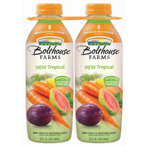 Bolthouse Farms 50/50 Tropical - 32 oz. - 2 pk.