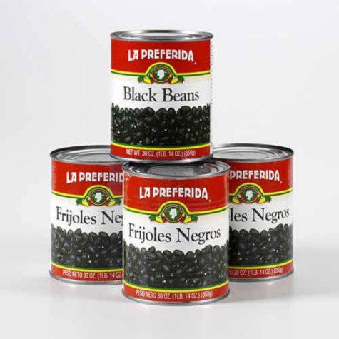 La Preferida Frijoles Negros - 4/30 oz.