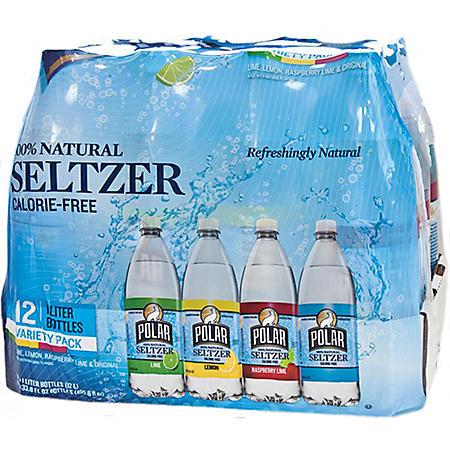 Polar Seltzer Variety Pack (1L bottles, 12 pk.)