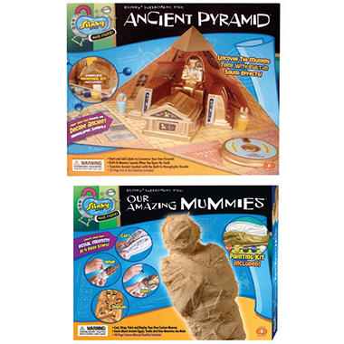 Ancient Pyramid/Amazing Mummies Science Kit Combo Pack