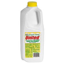United Dairy Whole Buttermilk  (half gal.)