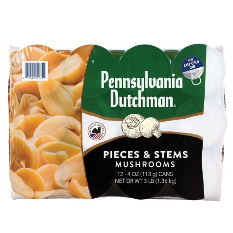 Pennsylvania Dutchman Mushrooms - 12/4 oz. cans
