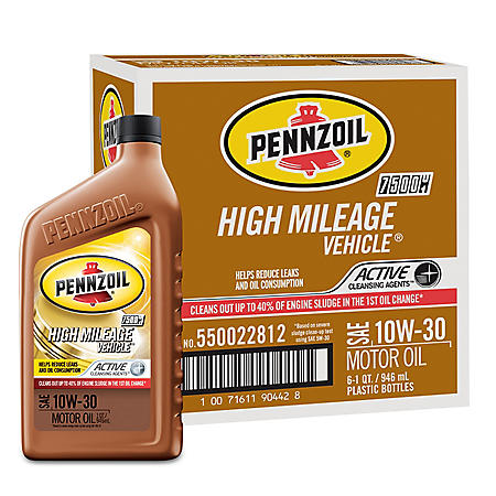 Pennzoil High Mileage SAE 10W-30 Motor Oil
