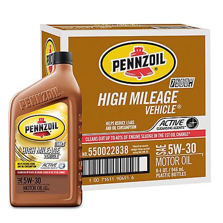 Pennzoil High Mileage SAE 5W-30 Motor Oil