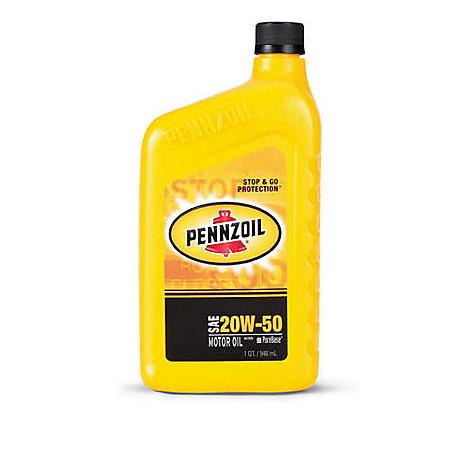 Pennzoil 20W50 Motor Oil - 1 Quart Bottles - 12 pack