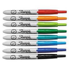 Sharpie - Retractable Ultra Fine Tip Permanent Marker, Assorted Colors -  8/Set