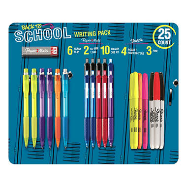 Sharpie and Paper Mate Writing Essentials - 25 Pack