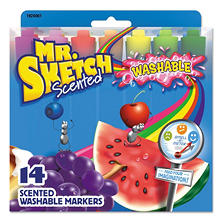 Mr. Sketch Washable Markers, Chisel, Assorted Colors, 14ct.