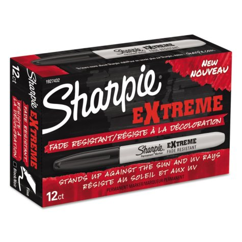 Sharpie - Extreme Marker, Fine Point, Black -  Dozen
