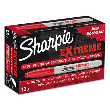 Sharpie Extreme Maker, Fine Point, Red, 12pk.