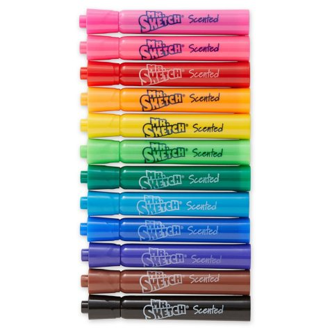 Mr. Sketch - Scented Watercolor Markers, 12 Colors - 12 per Pack