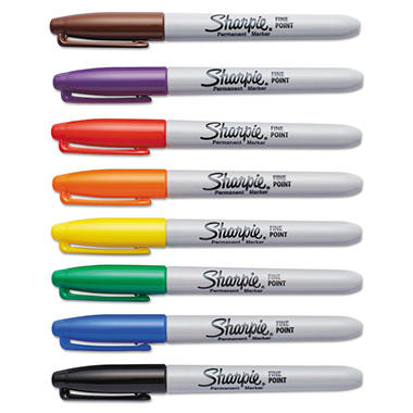 Sharpie Permanent Marker, Fine Point, Assorted Colors, Select Quantity