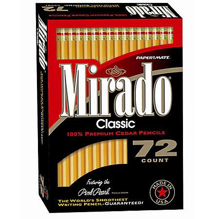 Paper Mate Mirado Woodcase Pencils, 72ct.