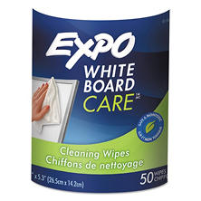 Expo Dry-Erase Board Cleaning Wet Wipes, 50ct.