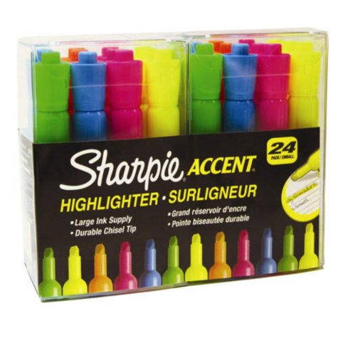 Sharpie Accent Assorted Highlighters - 24 Pack