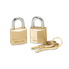 Master Lock? Twin Brass 3-Pin Tumbler Lock , 2 Pack