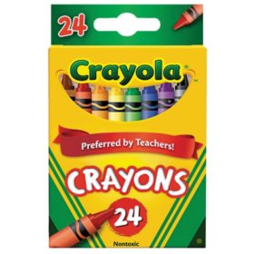 Crayola® Classic Color Crayons, Peggable Retail Pack, 24 Colors