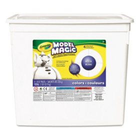 Crayola® Model Magic Modeling Compound, 8 oz each packet, White, 2 lbs.