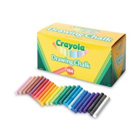 Crayola® Colored Drawing Chalk, Six Each of 24 Assorted Colors, 144 Sticks/Set