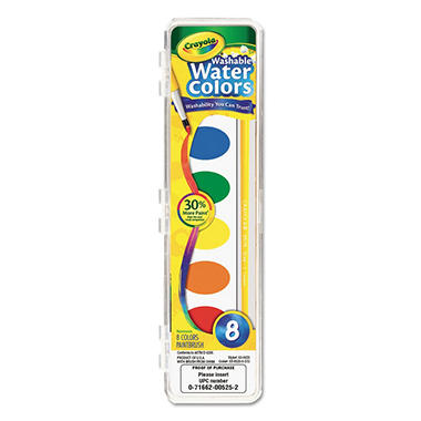 Crayola® Washable Watercolor Paint, 8 Assorted Colors