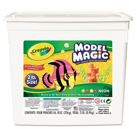 Crayola Model Magic Modeling Compound, 8 oz. each, Neon -  2 lbs.