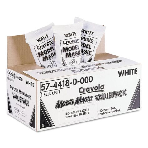 Crayola® Model Magic Modeling Compound, 8 oz, White, 6 lbs.