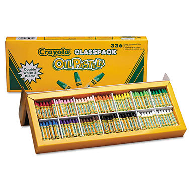 Crayola® Oil Pastels,12-Color Set, Assorted, 336/Pack