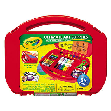Crayola® Ultimate Art Supplies and Easel with 85 Pieces, Ages 4 and Up