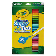 Crayola Washable Super Tips Markers with Silly Scents, Assorted Colors, 50ct.