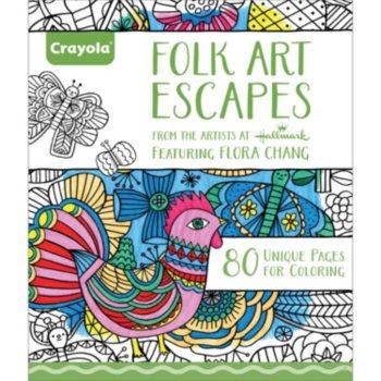 Crayola Folk Art Escapes Coloring Book