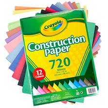 Crayola Bulk Construction Paper, 12 Assorted Colors (720 ct.)