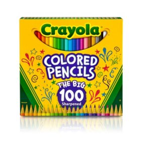 Crayola® Long Barrel Colored Woodcase Pencils, 3.3 mm, 100 Assorted Colors/Set
