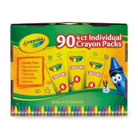 Crayola Classic 4 Count Individual Crayons (90 pk.)