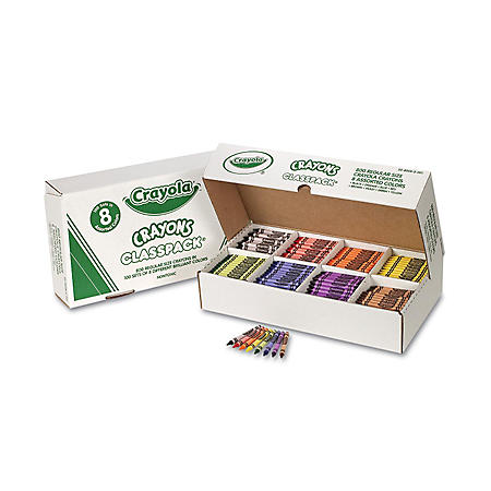 Crayola Classpack Crayons, 8 Colors, 800 Total Crayons