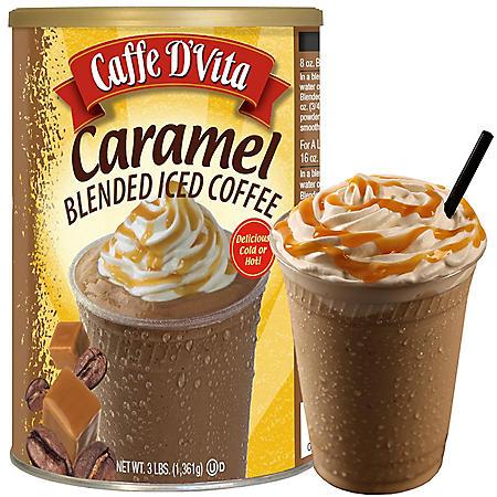 Caffe D'Vita Blended Iced Coffee, Caramel (48 oz.)