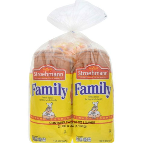 Stroehmann Family White - 20 oz. loaves - 2 pk.
