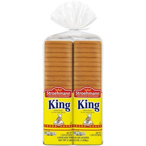 Stroehmann® King Enriched White Bread - 22 oz. - 2 ct.
