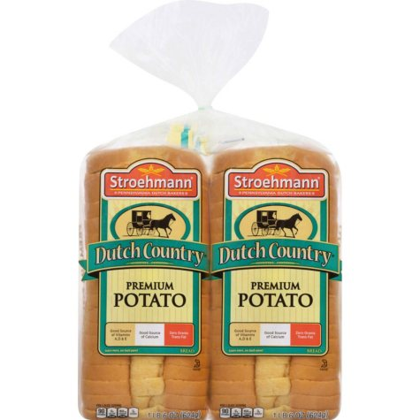 Stroehmann Dutch Country Premium Potato Original Recipe - 22 oz. Loaf - 2 pk.