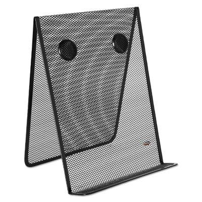 Bon Rolodex   Nestable Wire Mesh Freestanding Desktop Copyholder, Stainless  Steel   Black