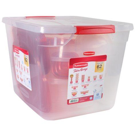 Rubbermaid 62-Piece TakeAlongs Food Storage Set