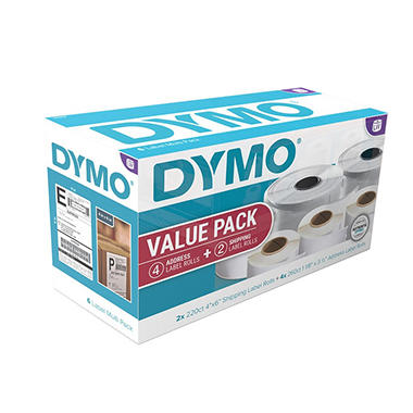 DYMO LabelWriter Value Pack of White Address (4 ct.) and Shipping Labels (2 ct.)