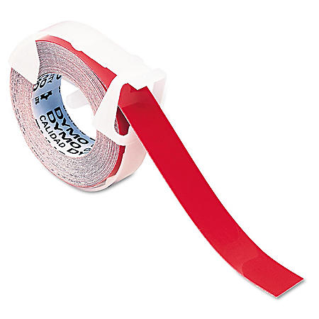 DYMO - Self-Adhesive Glossy Labeling Tape for Embossers, 3/8in x 9-34ft Roll -  Red