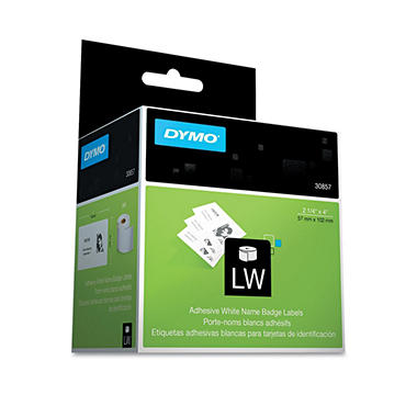 DYMO - Self-Adhesive Name Badge Labels, 2-1/4 x 4, White - 250 ct.